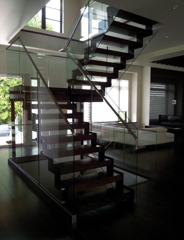 Double Stringer StairsDouble Stringer Stairs give an open air feeling while maintaining structural rigidity.