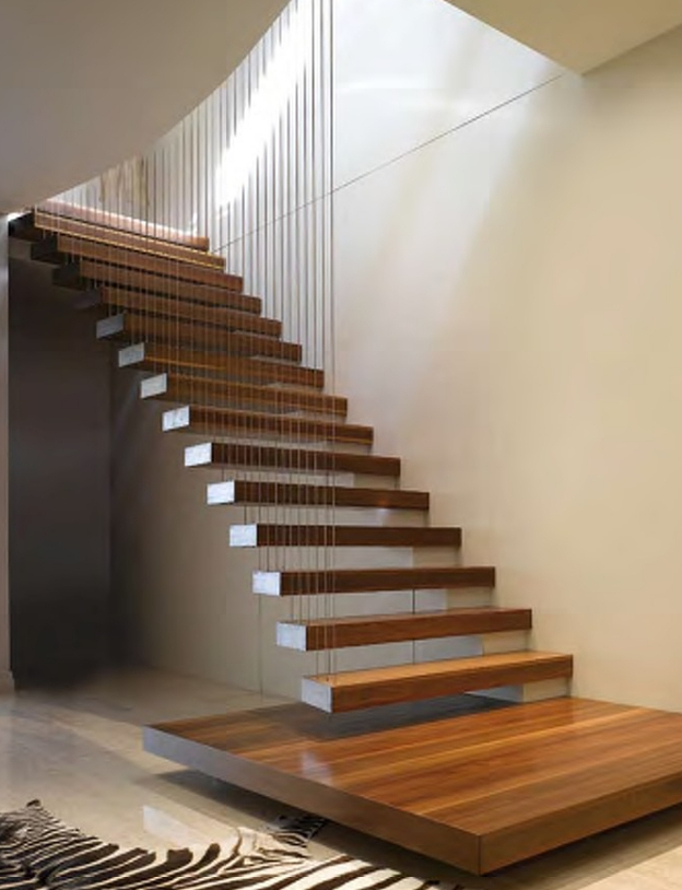 Floating Tread StairsFloating tread stairs are becoming a very popular trend because of their sleek design.