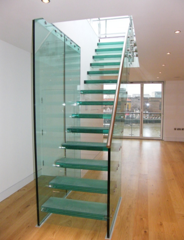 Glass StairsIf you are looking to create a contemporary feel, then glass stairs are a great option.